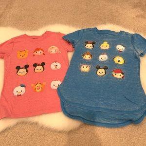 Toddler 5T Disney Tsum Tsum mini character shirts